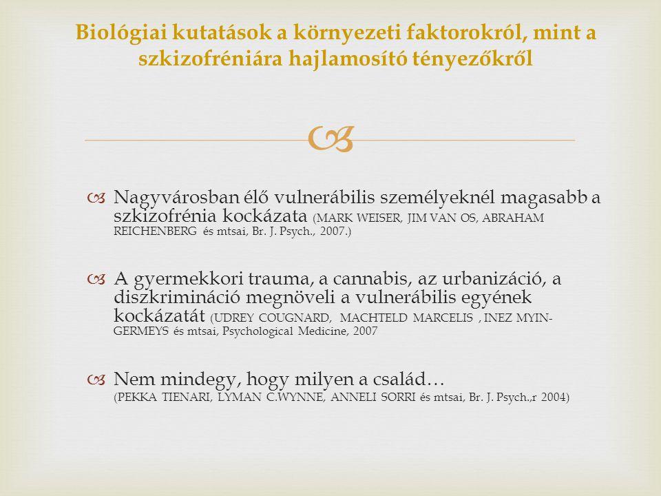 Biológiai kutatások a környezeti faktorokról, mint a szkizofréniára hajlamosító tényezőkről