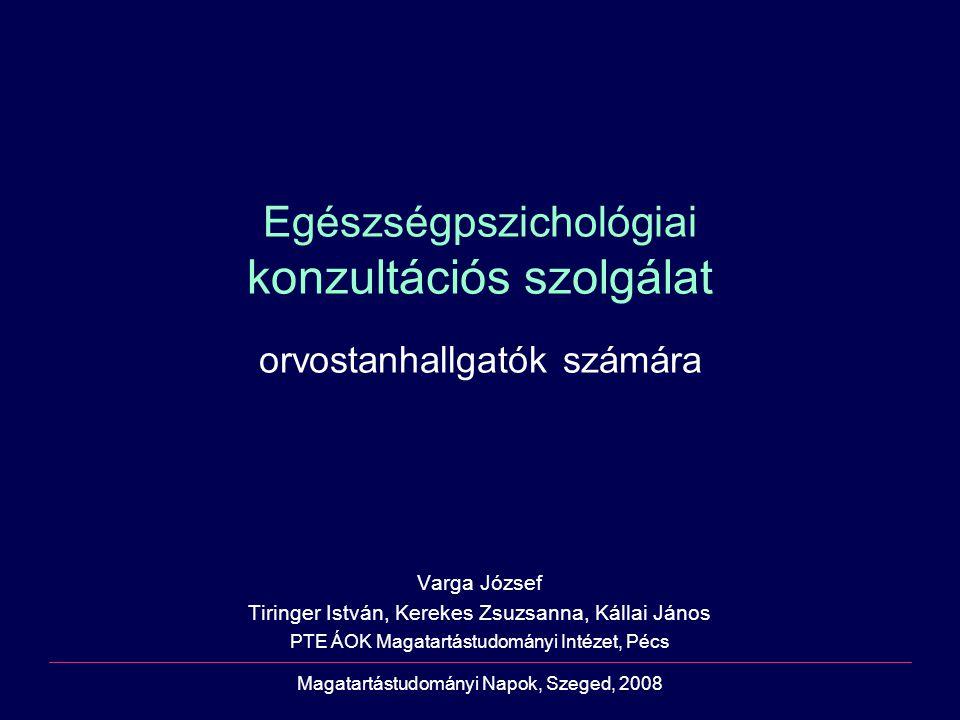 Egészségpszichológiai konzultációs szolgálat orvostanhallgatók számára