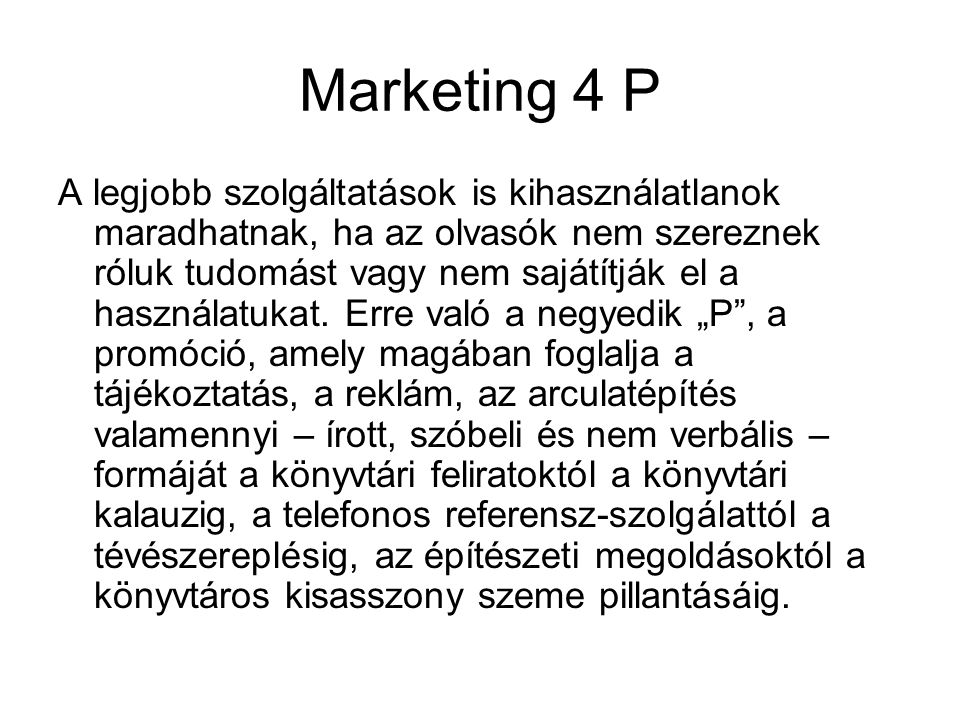 Marketing 4 P
