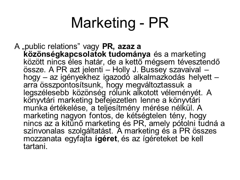 Marketing - PR