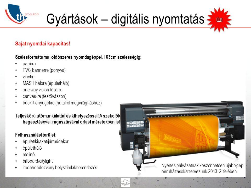 Gyártások – digitális nyomtatás