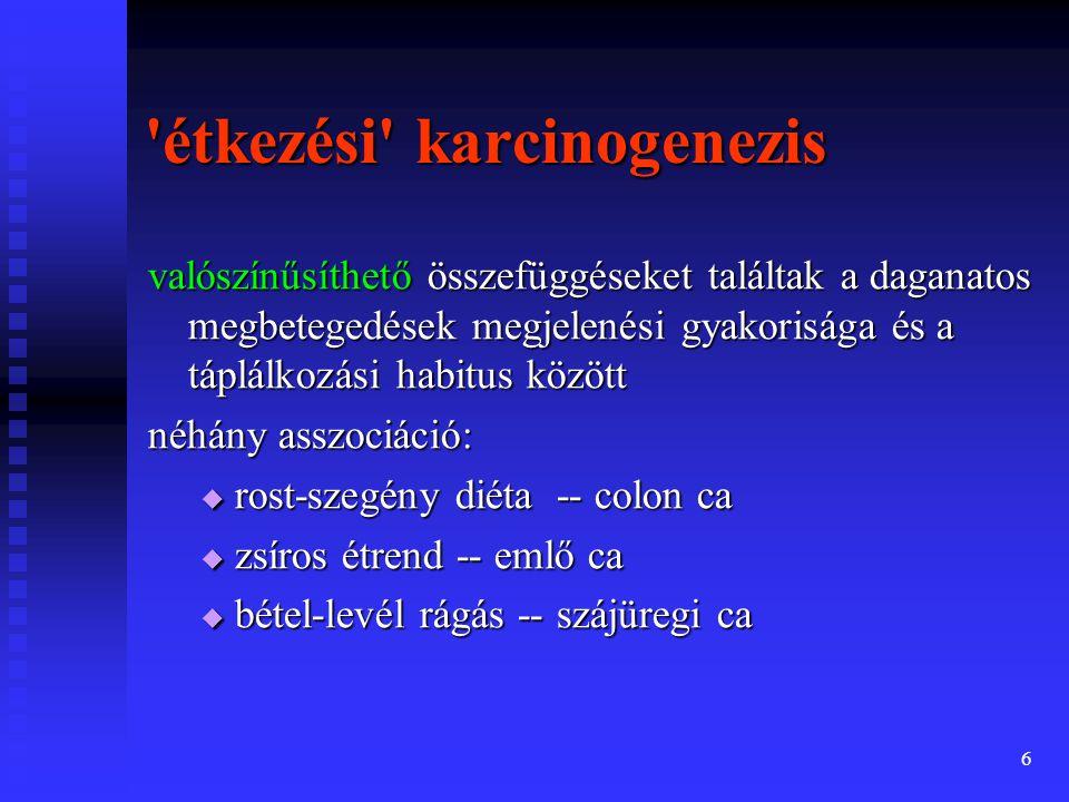 étkezési karcinogenezis
