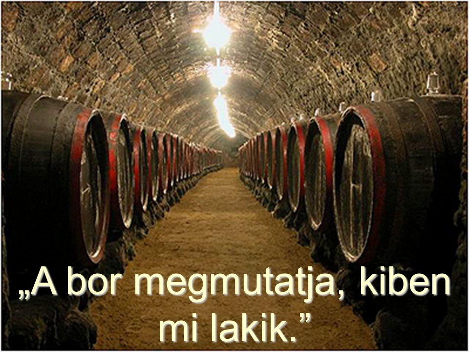 """""""A bor megmutatja, kiben mi lakik."""