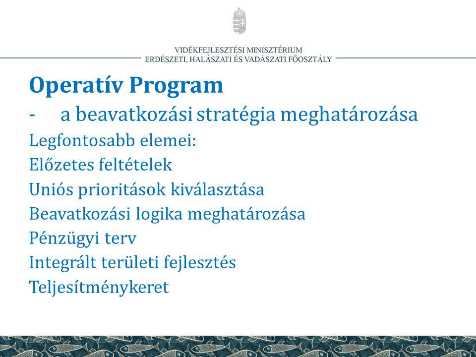 Operatív Program a beavatkozási stratégia meghatározása