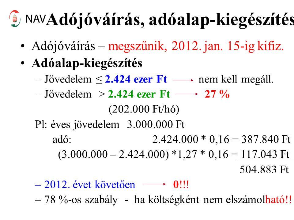 Adójóváírás, adóalap-kiegészítés