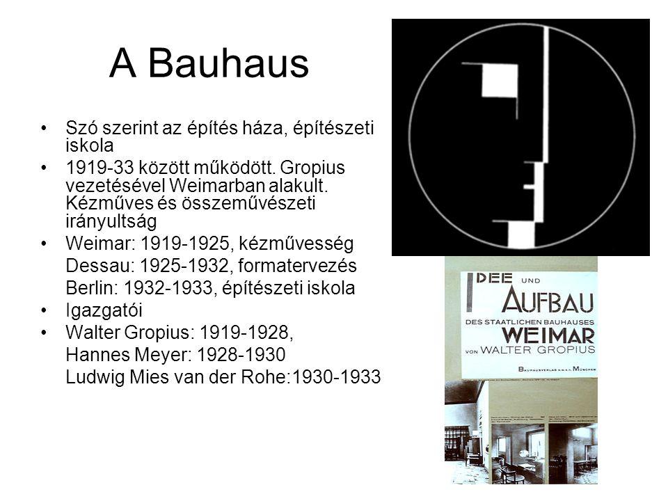 A Bauhaus Szó szerint az építés háza, építészeti iskola