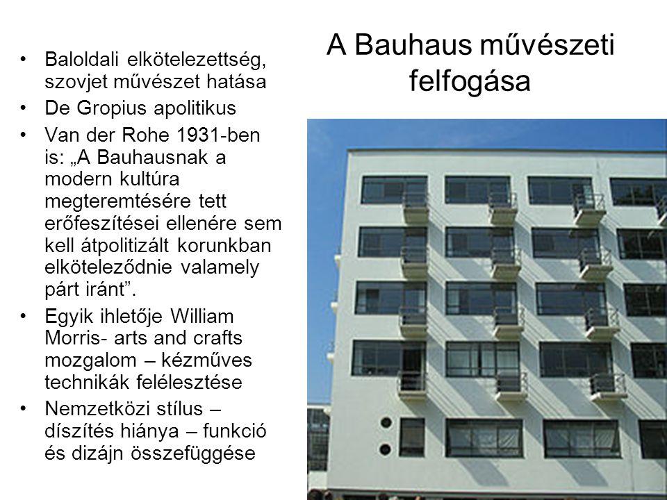 A Bauhaus művészeti felfogása