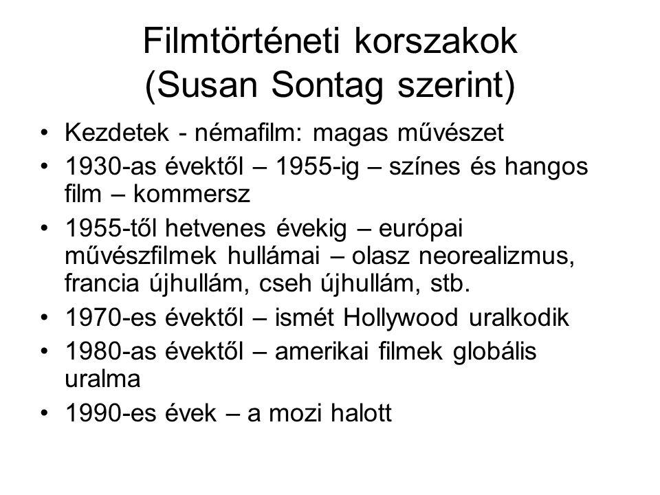 Filmtörténeti korszakok (Susan Sontag szerint)
