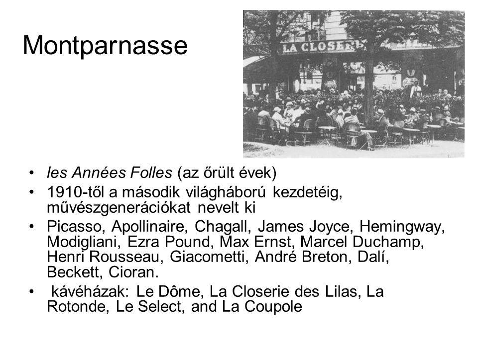 Montparnasse les Années Folles (az őrült évek)