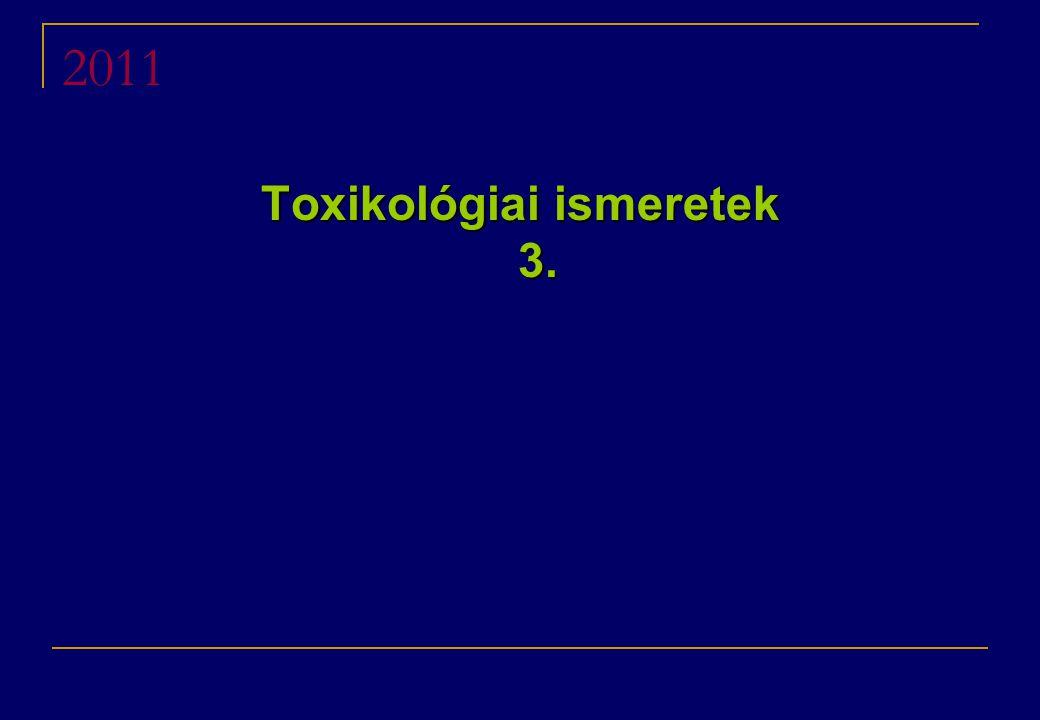 Toxikológiai ismeretek 3.