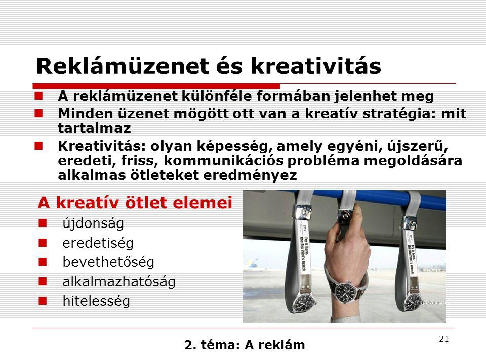 Reklámüzenet és kreativitás