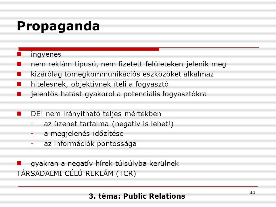 3. téma: Public Relations