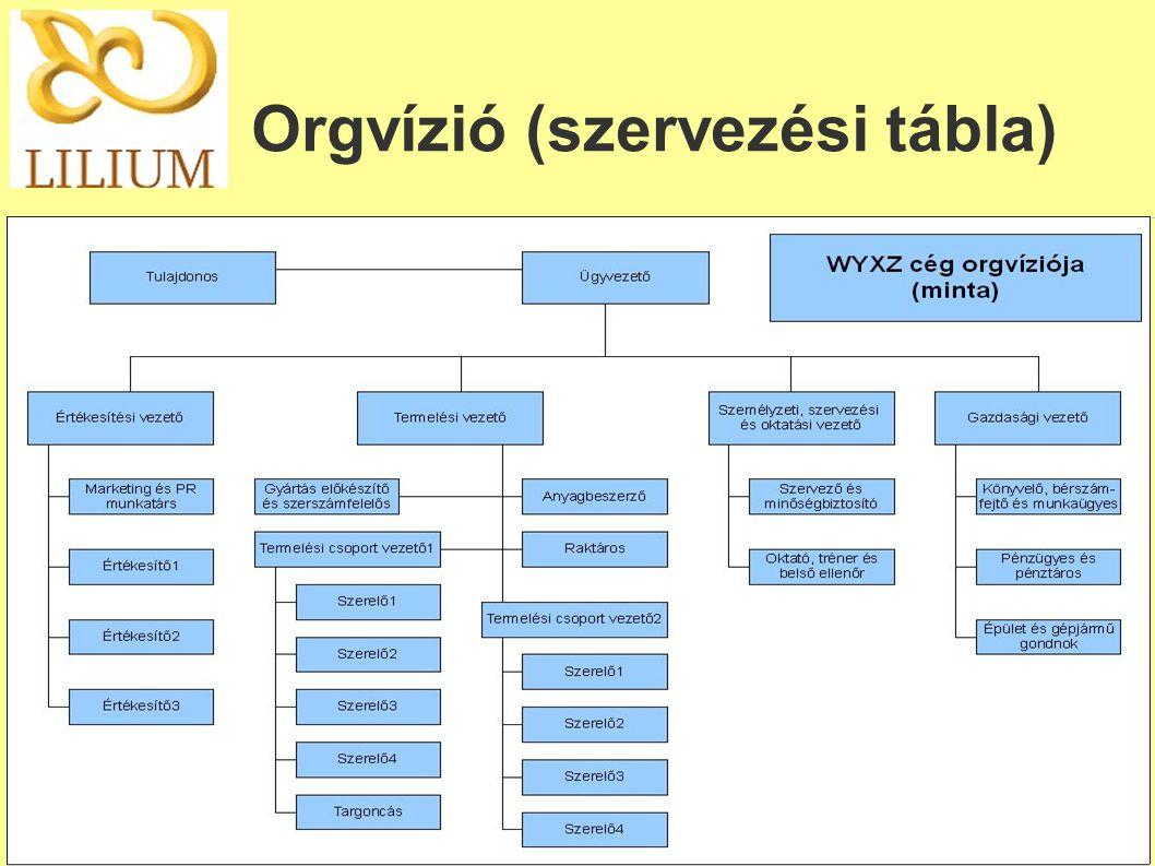 Orgvízió (szervezési tábla)