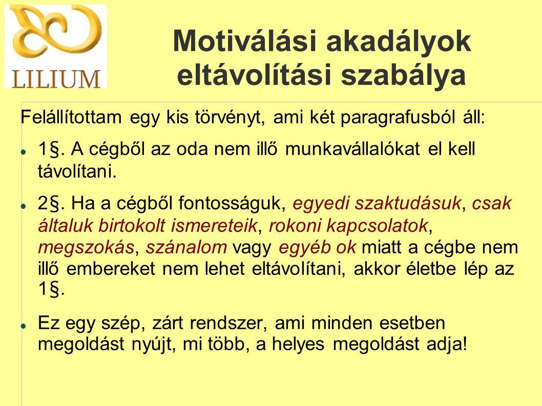 Motiválási akadályok eltávolítási szabálya