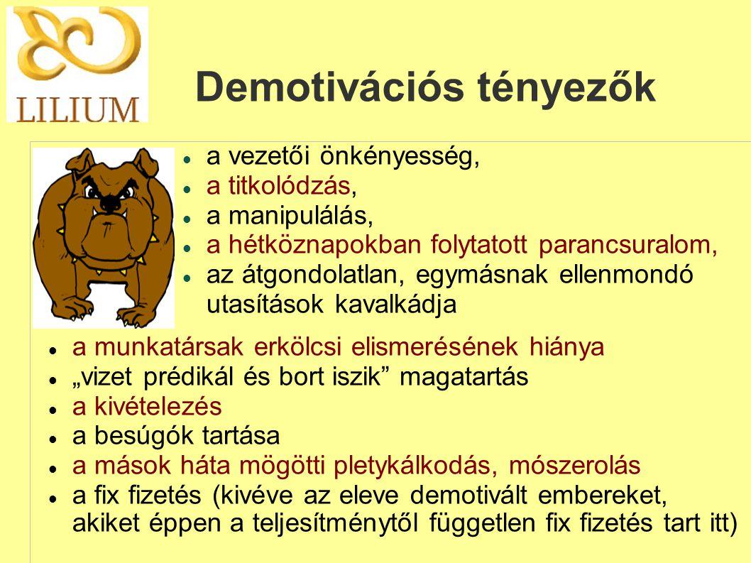 Demotivációs tényezők