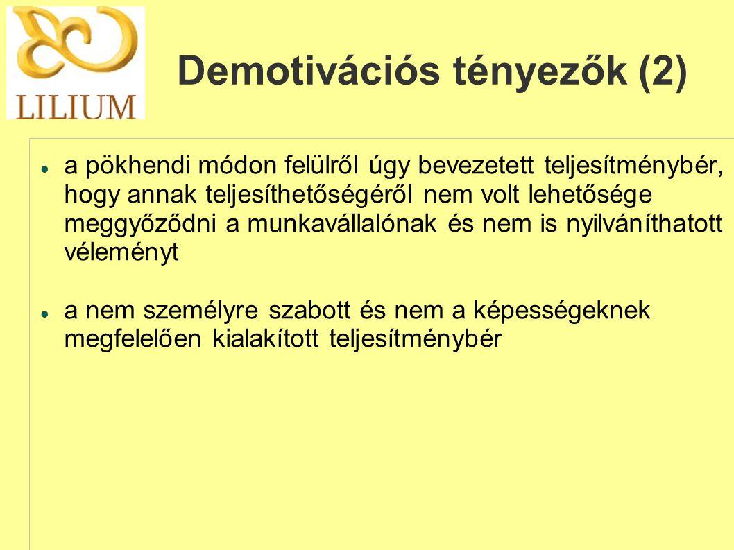 Demotivációs tényezők (2)