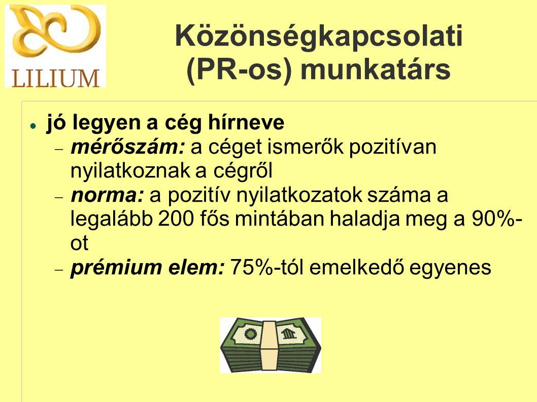 Közönségkapcsolati (PR-os) munkatárs