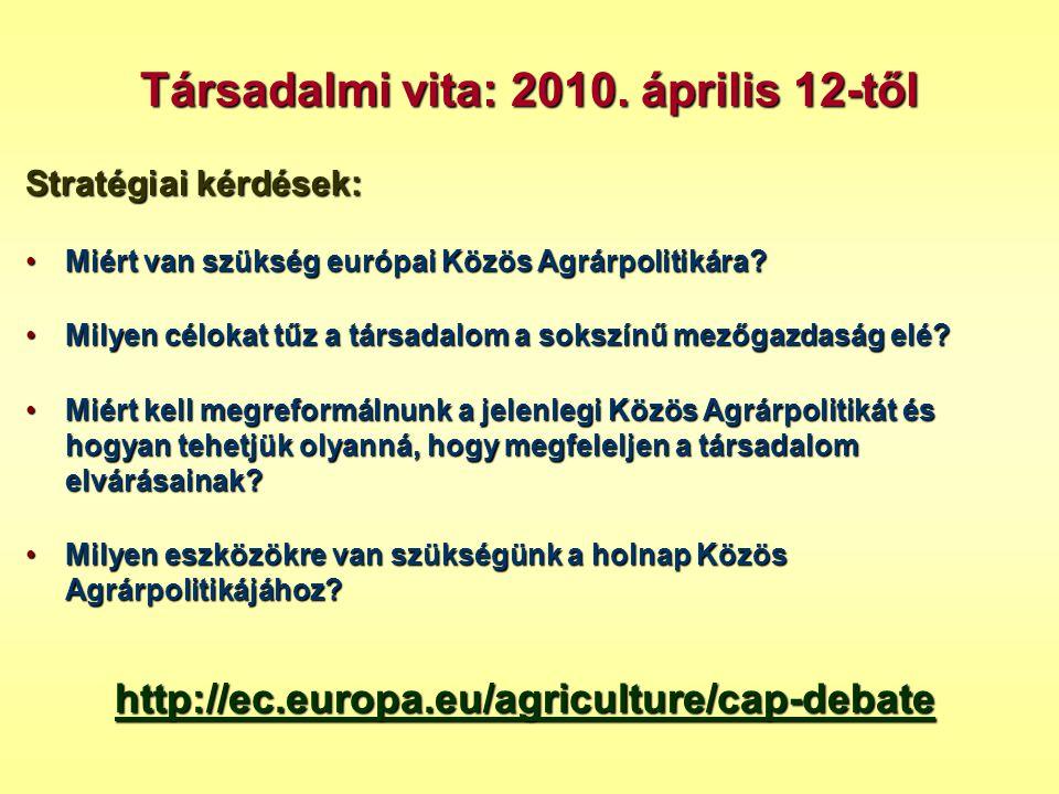 Társadalmi vita: 2010. április 12-től