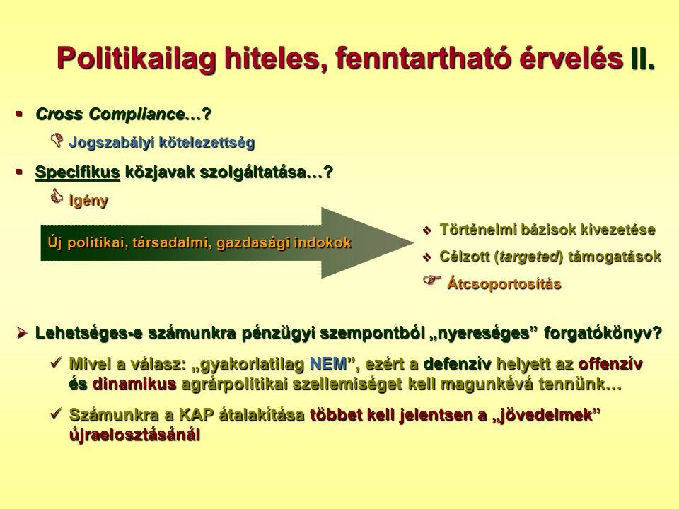 Politikailag hiteles, fenntartható érvelés