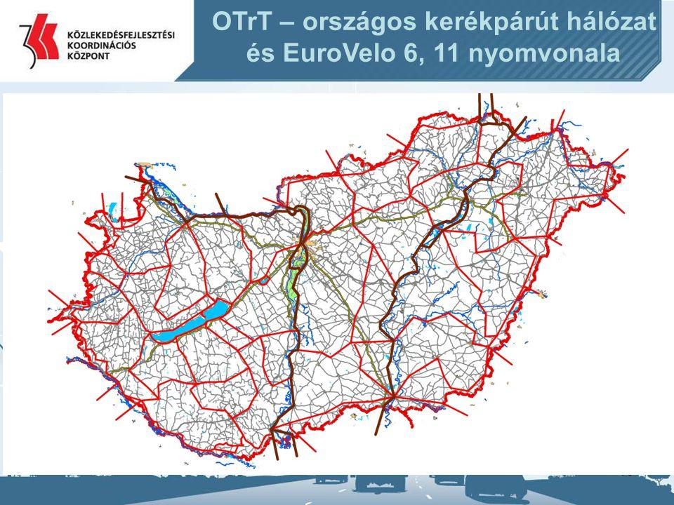OTrT – országos kerékpárút hálózat és EuroVelo 6, 11 nyomvonala