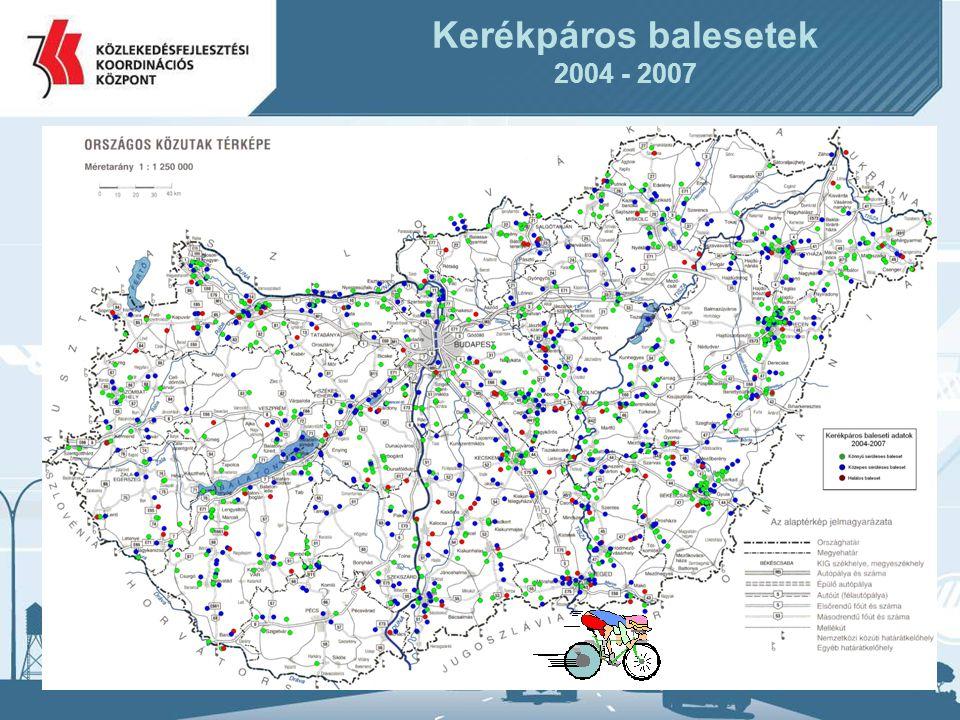 Kerékpáros balesetek 2004 - 2007