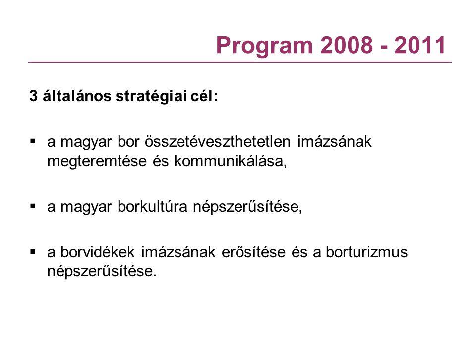 Program 2008 - 2011 3 általános stratégiai cél: