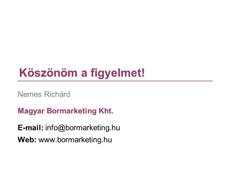 Köszönöm a figyelmet! Nemes Richárd Magyar Bormarketing Kht.