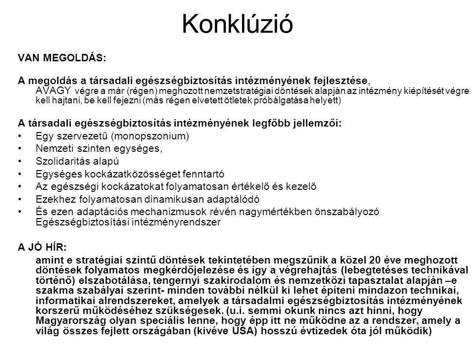 Konklúzió VAN MEGOLDÁS: