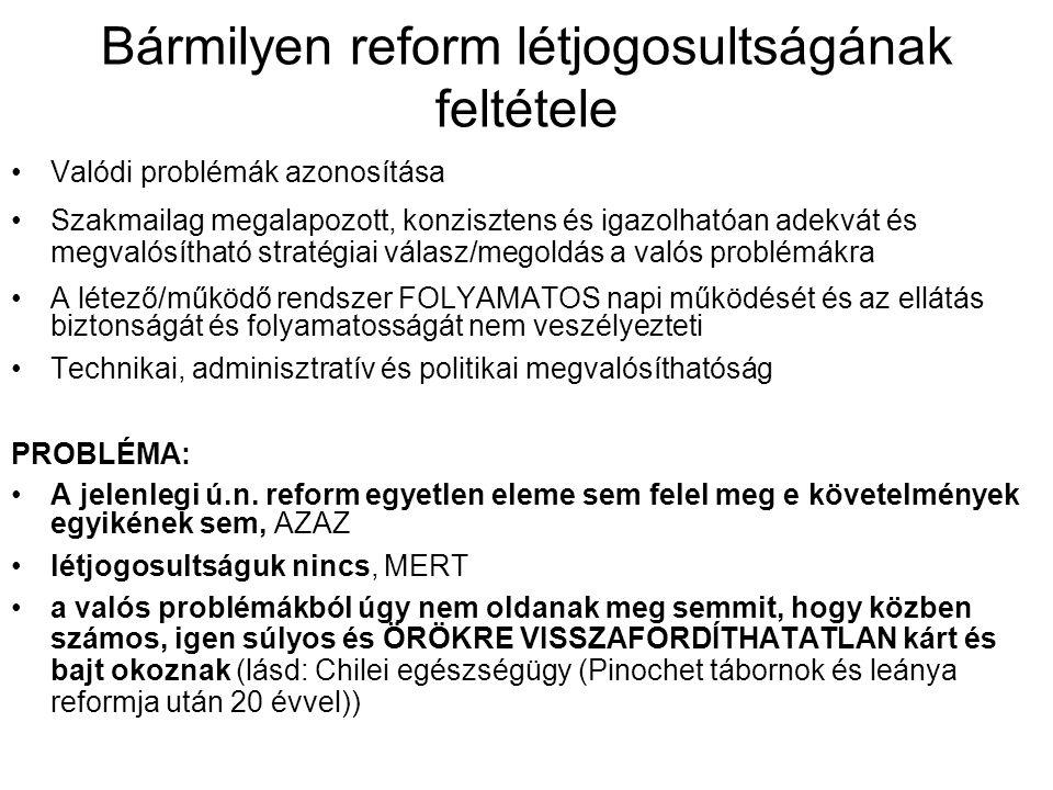 Bármilyen reform létjogosultságának feltétele