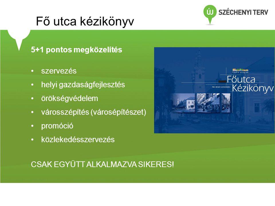 Fő utca kézikönyv 5+1 pontos megközelítés szervezés