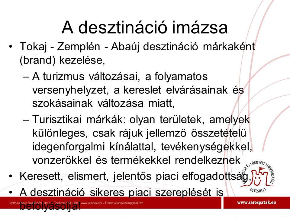 A desztináció imázsa Tokaj - Zemplén - Abaúj desztináció márkaként (brand) kezelése,
