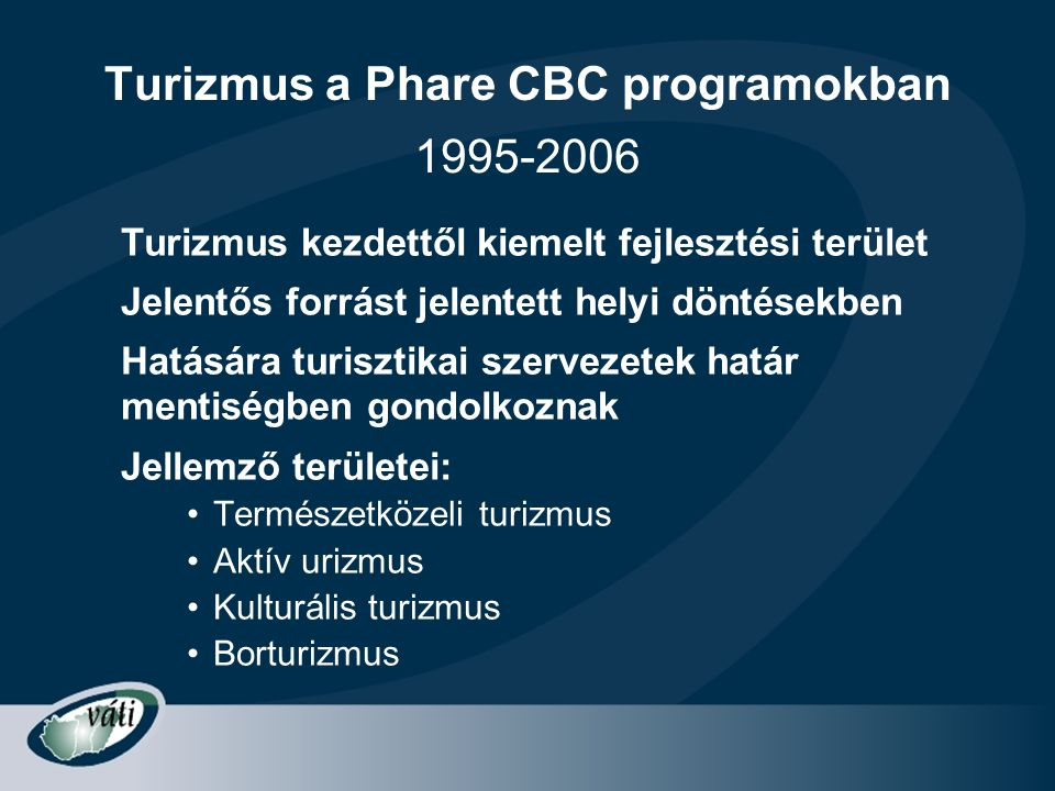 Turizmus a Phare CBC programokban