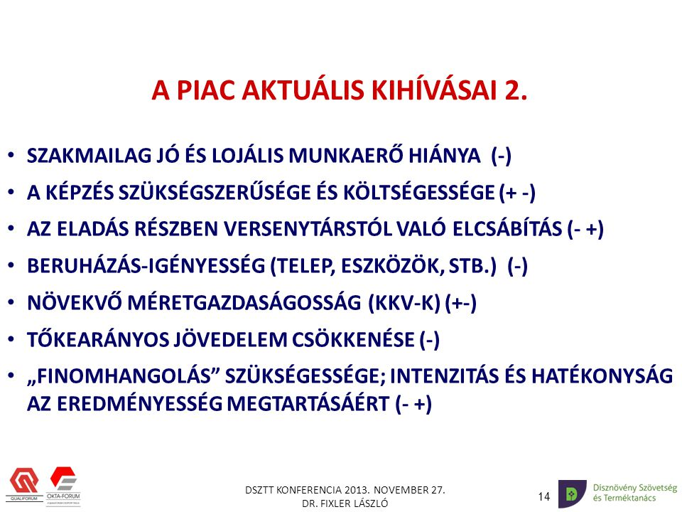 A PIAC AKTUÁLIS KIHÍVÁSAI 2.