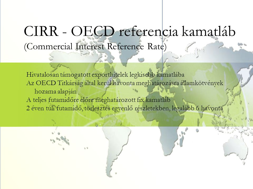 CIRR - OECD referencia kamatláb (Commercial Interest Reference Rate)