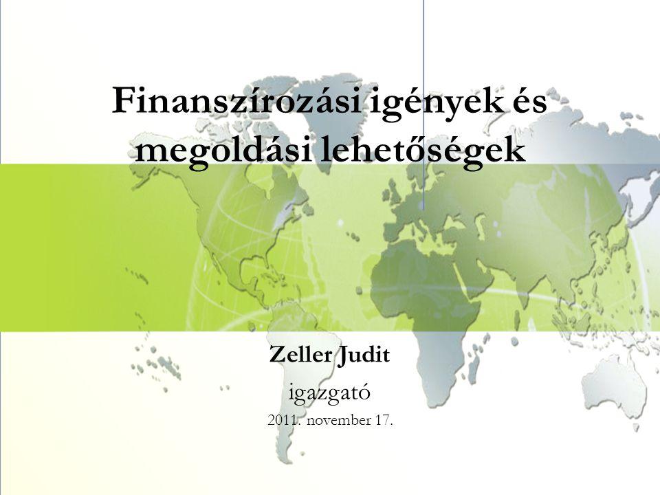 Finanszírozási igények és megoldási lehetőségek