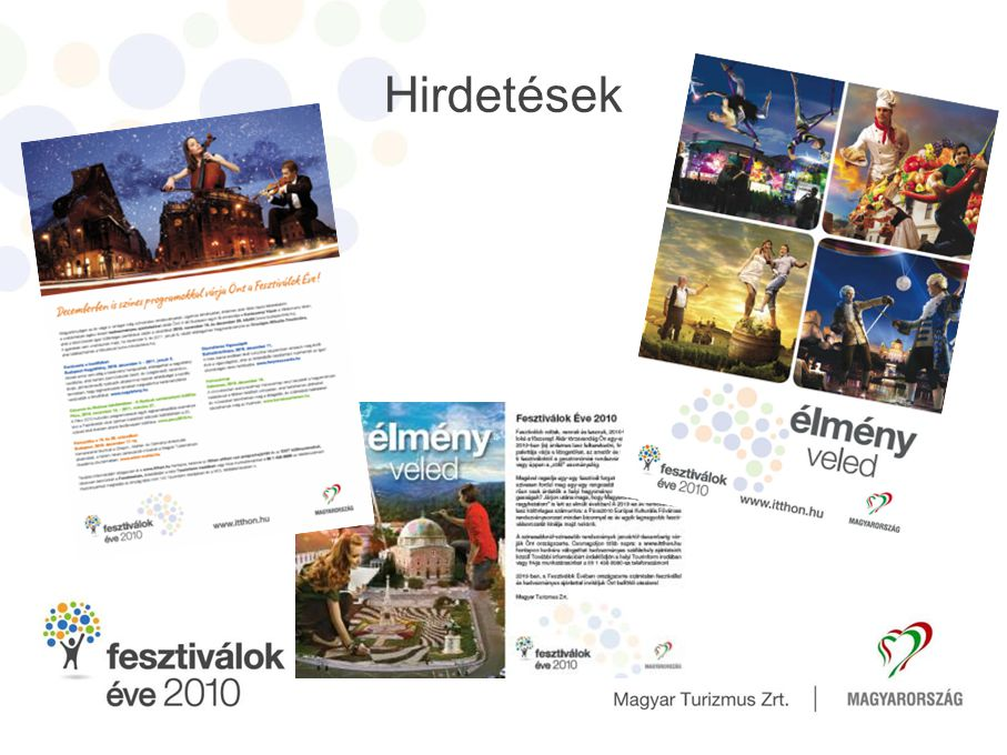 Hirdetések Az év során 9 alkalommal hirdetés a Horizon magazinban