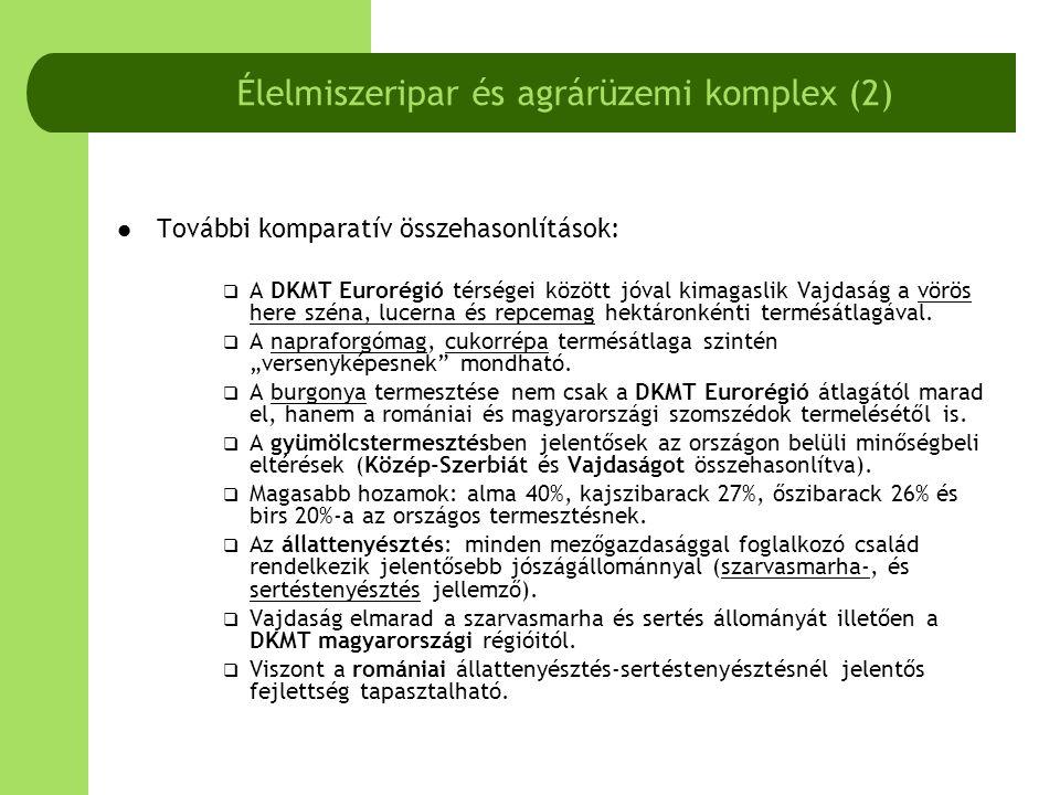 Élelmiszeripar és agrárüzemi komplex (2)