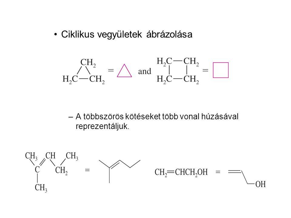 Ciklikus vegyületek ábrázolása