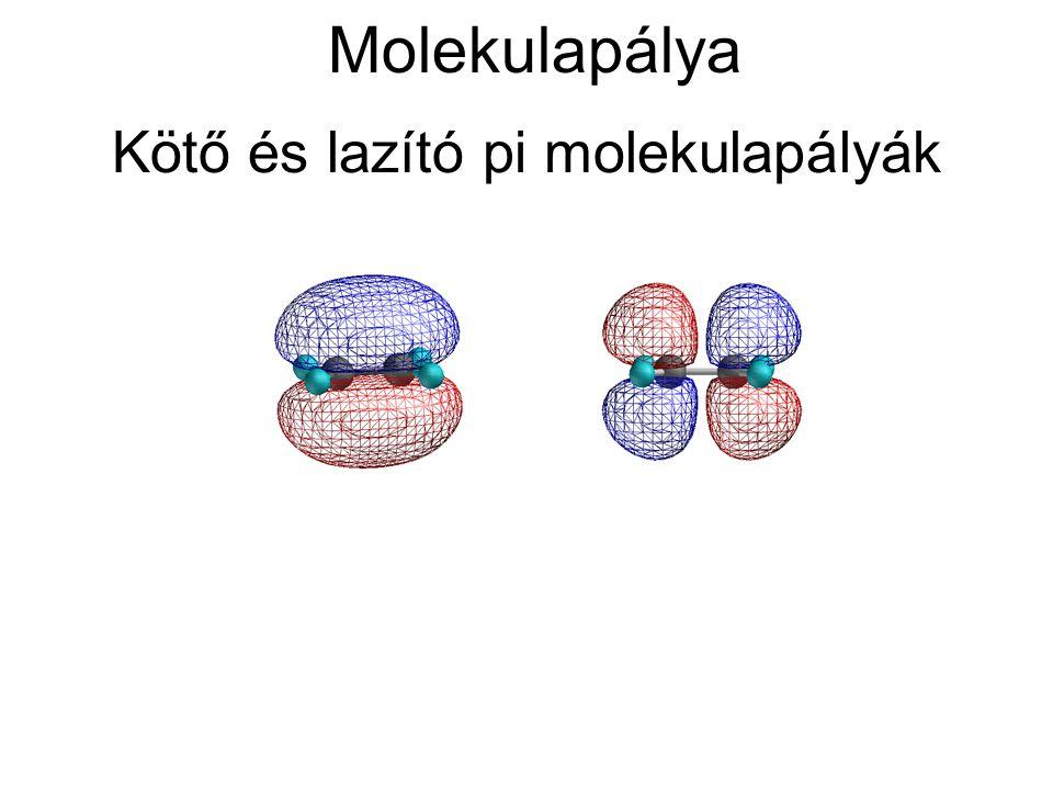 Kötő és lazító pi molekulapályák