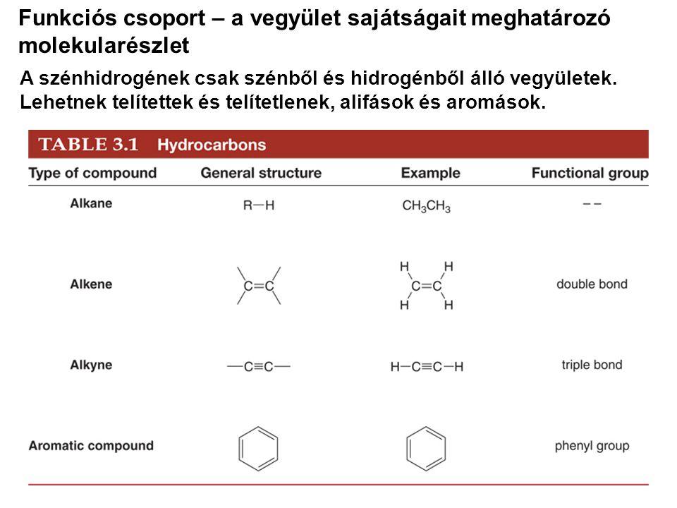 Funkciós csoport – a vegyület sajátságait meghatározó molekularészlet
