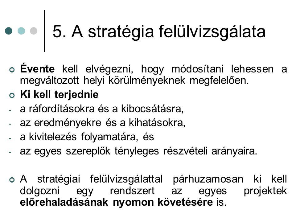 5. A stratégia felülvizsgálata