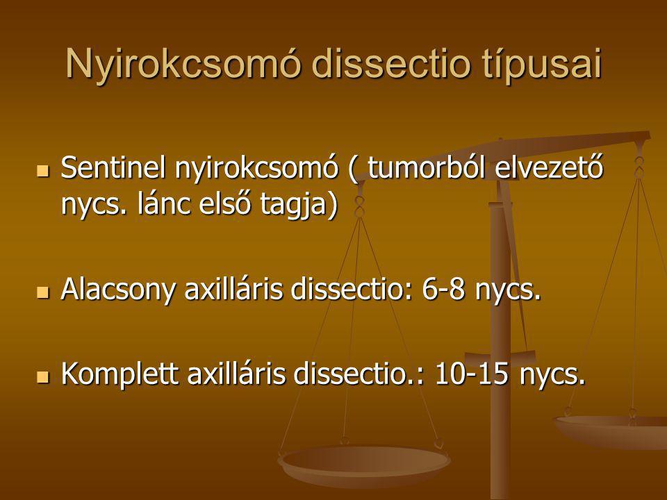 Nyirokcsomó dissectio típusai