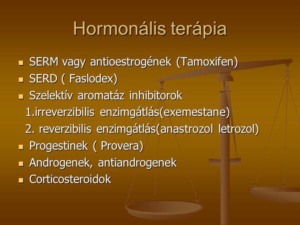 Hormonális terápia SERM vagy antioestrogének (Tamoxifen)