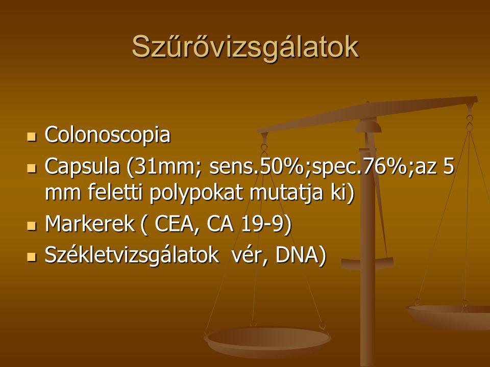 Szűrővizsgálatok Colonoscopia