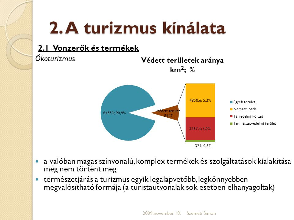 2. A turizmus kínálata 2.1 Vonzerők és termékek Ökoturizmus