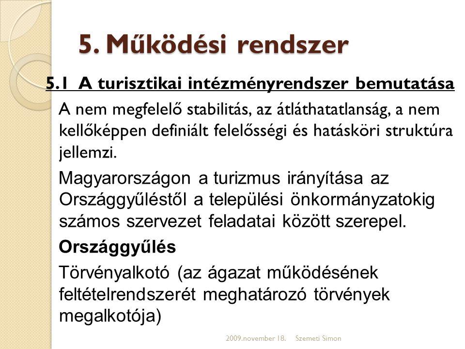 5. Működési rendszer