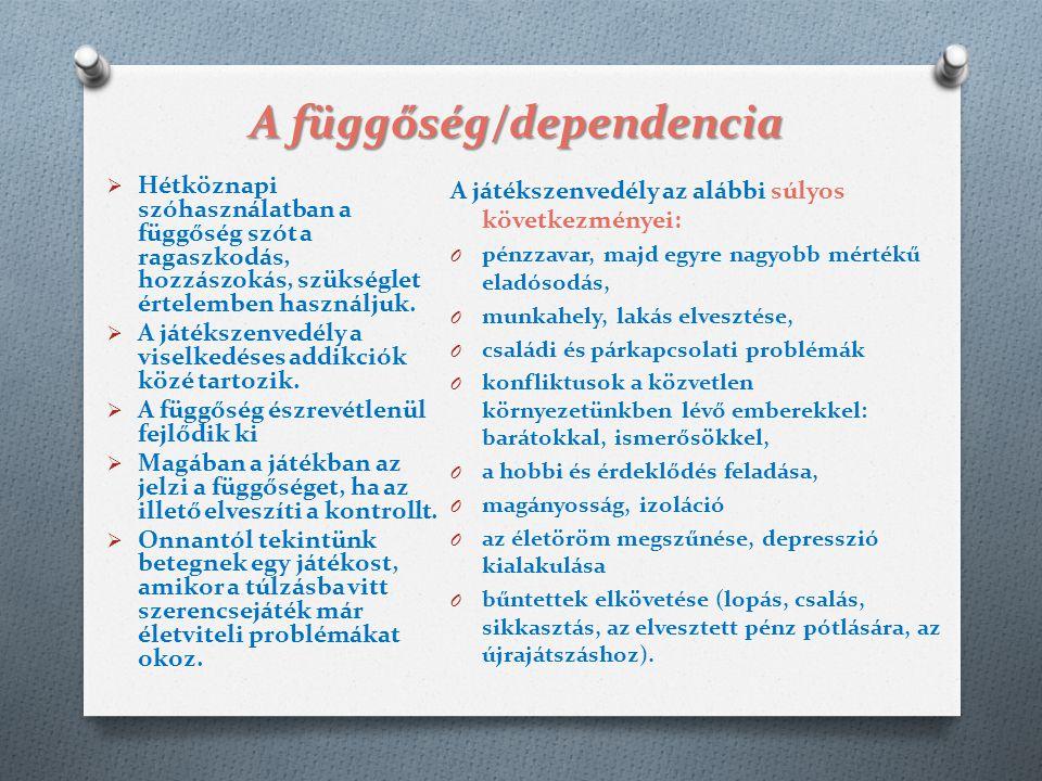 A függőség/dependencia