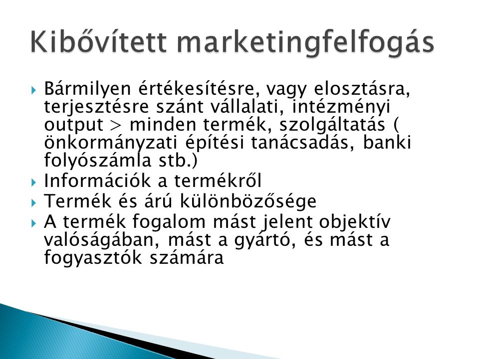 Kibővített marketingfelfogás