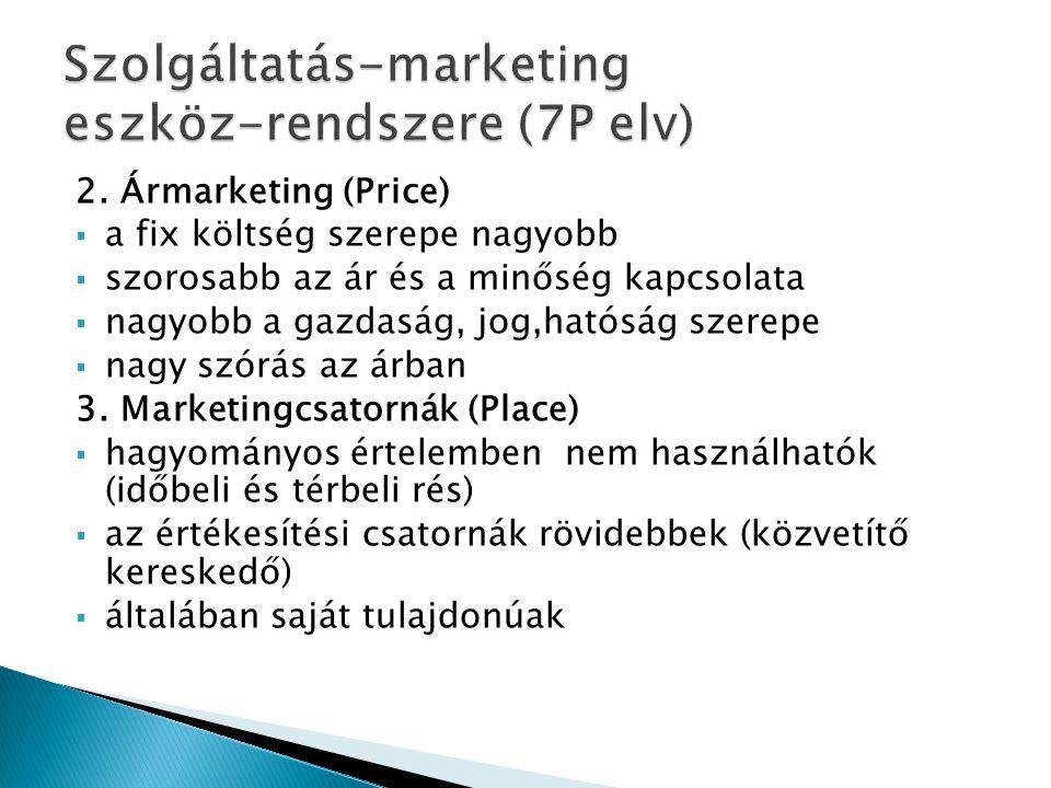 Szolgáltatás-marketing eszköz-rendszere (7P elv)