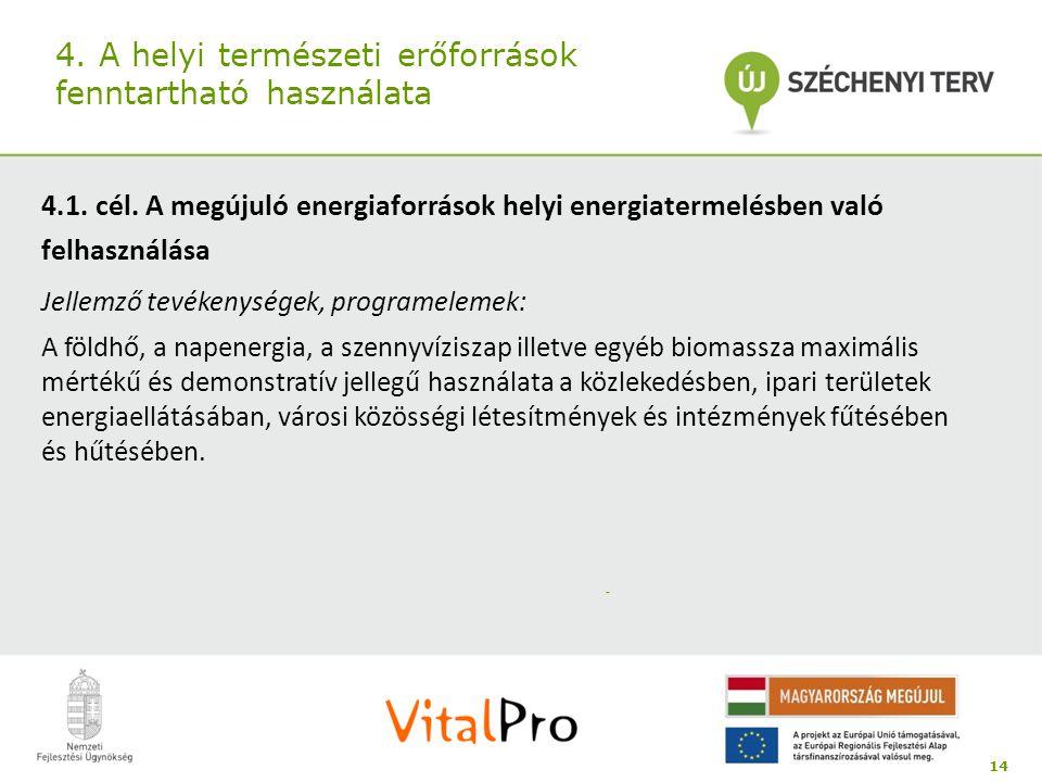 4. A helyi természeti erőforrások fenntartható használata